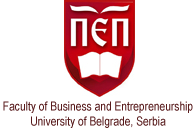 Faculty of Business Economics and Entrepreneurship- University of Belgrade, Serbia